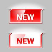 Nouvelle étiquette. élément de vecteur — Vecteur