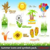 Summer collection — Stok Vektör