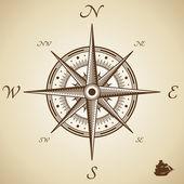 Vector compass — Stock Vector