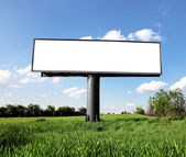 Outdoor advertising billboard — Stock Photo