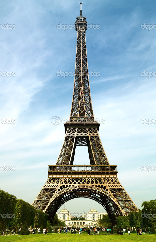 The Eiffel Tower, Paris  Stock Photo #6823638