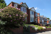 Row of Typical English Terraced Houses — Stock Photo