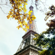 Eiffel Tower in autumn day — Stock Photo