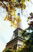 Eiffel Tower in autumn day — Stock Photo