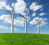 Wind turbines , alternative energy — Stock Photo