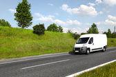 White delivery mini truck — Stock Photo