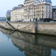 Foto Stock: Paris architecture, Seine river