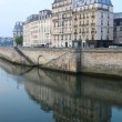 Paris architecture, Seine river - Stock Photo