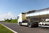 A big fuel tanker truck — Stock Photo