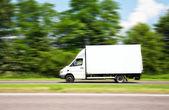 Speeding Van — Stock Photo