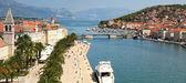 Panorama van trogir, beroemde toeristische stad — Stockfoto