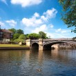 Famous bridge in York, uk — Stock Photo