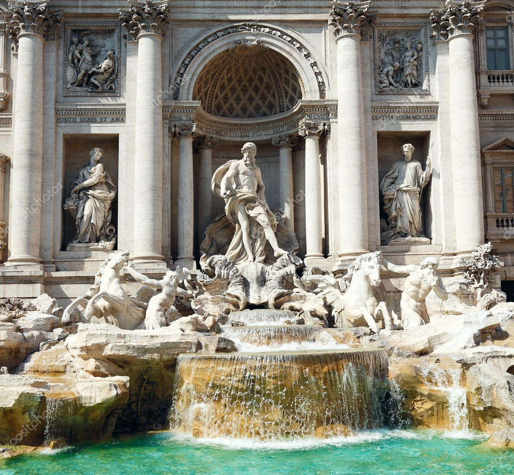 Fontana di Trevi, Roma, Italy  Stock Photo #7569788