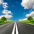 asfalterad väg — Stockfoto