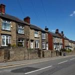 Typical english street — Stock Photo