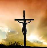 Jesus Christ on cross — Stock Photo