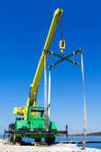 Yacht crane — Stock Photo