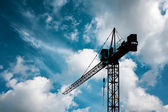 Crane on blue sky — Stock Photo