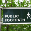 Public Footpath - Stock Photo