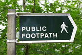 Public Footpath — Stock Photo
