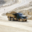 Truck in the mine stone - Stock Photo
