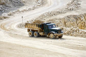 Truck in the mine stone — Stock Photo