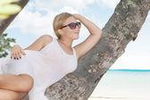 On palmon palmon palmon palm — Stock Photo