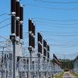 A row of cutouts filled with high voltage gas — Stock Photo #6914807