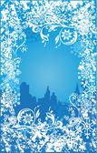 Winter background vector — Stock Vector