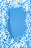 Winter France background vector — Stockvektor
