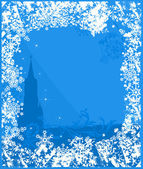 Winter Russia background vector — Stok Vektör