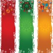 Stock Vector: Three vertical Christmas banners