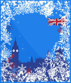 Winter England background vector — Stok Vektör