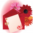 Valentine background card with hearts — Stock Vector #7813574