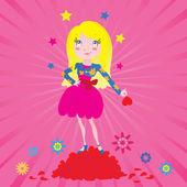 девушка звезда любви — Cтоковый вектор
