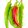 Green and red cayenne — Stock Photo #6828742