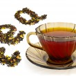 Mixture of dry tea from a cup — Stock Photo #7366136