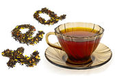 Mixture of dry tea from a cup — Stock Photo