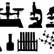 Laboratory Tools Set — Stock Vector