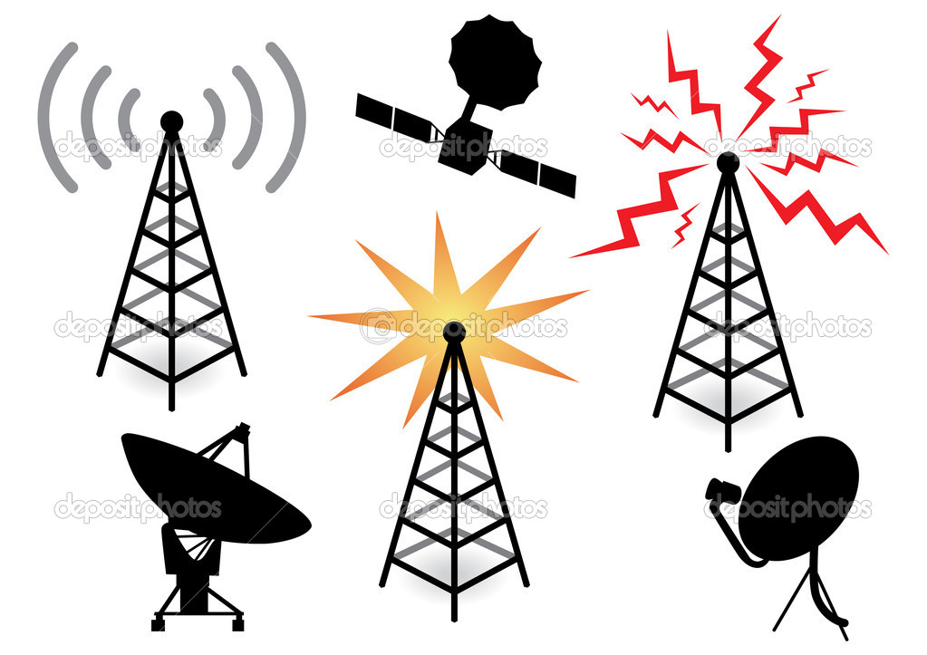 Illustration with a set of radio devices — Stock Vector #6911436