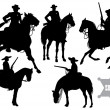 Cowboy, sheriff, rider in a sombrero — Stock Vector