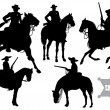 Stock Vector: Cowboy, sheriff, rider in a sombrero