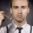 Man with cigaro — Stock Photo
