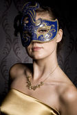 Woman in mask — 图库照片