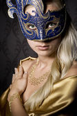 Woman in mask — Stockfoto