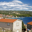 Croatian landscape, roofs of primosten town, europe — Stock Photo #6873907
