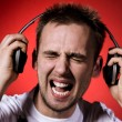Stock Photo: Too loud music