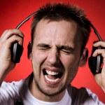 Too loud music — Stock Photo