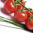 Fresh tomatoes and chive — Stock Photo #6874638