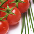 Stock Photo: Fresh tomatoes and chive